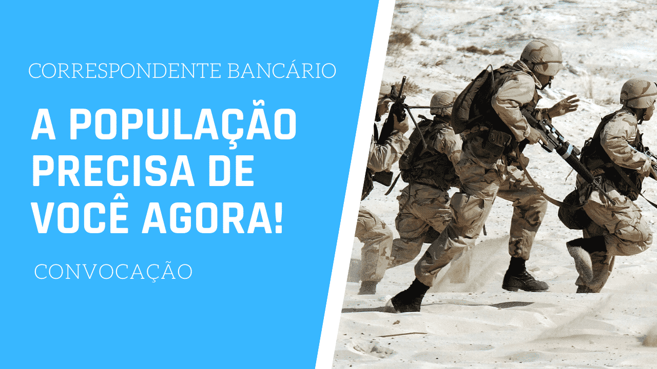 Correspondente: o Brasil precisa de você agora!